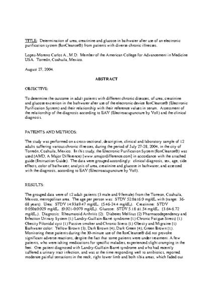 IonCleanse Study – ACAM