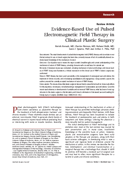 Evidence-based use of PEMF